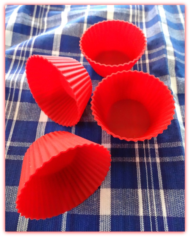 Mrs. Anderson's Baking Silicone Baking Cups and Royal Blue Box Plaid Kitchen Towel