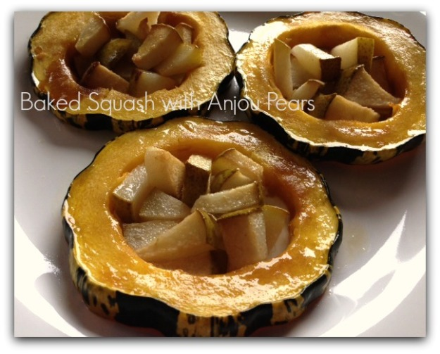 Baked Squash with Anjou Pears