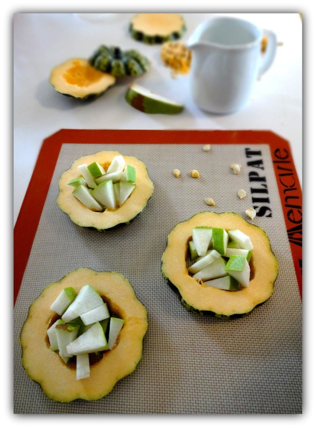 Carnival Squash Rounds Filled with Anjou Pear