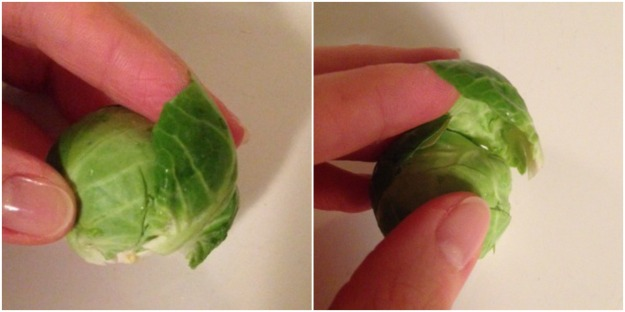 Peeling Brussels Sprout Leaves