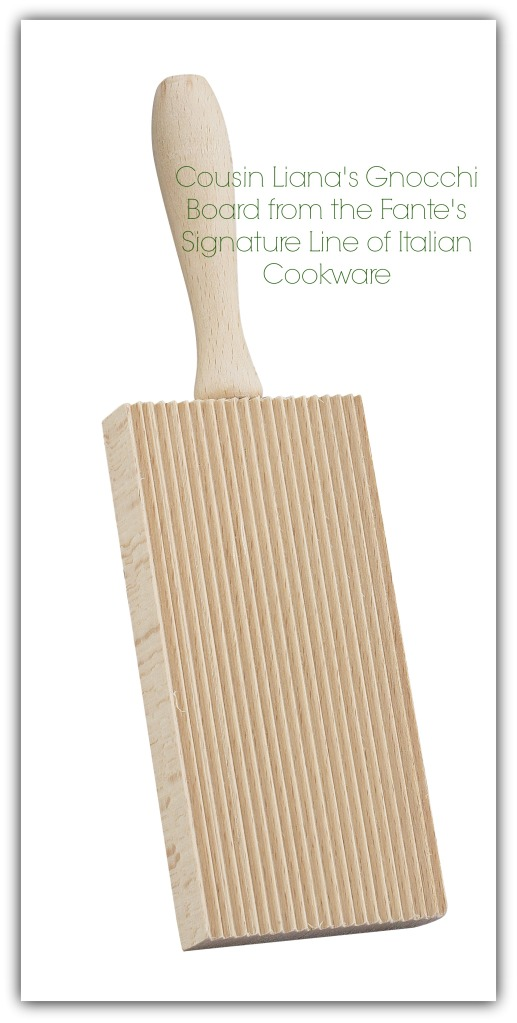 Cousin Liana's Gnocchi Board from the Fante's Signature Line of Italian Cookware from Harold Import Co.