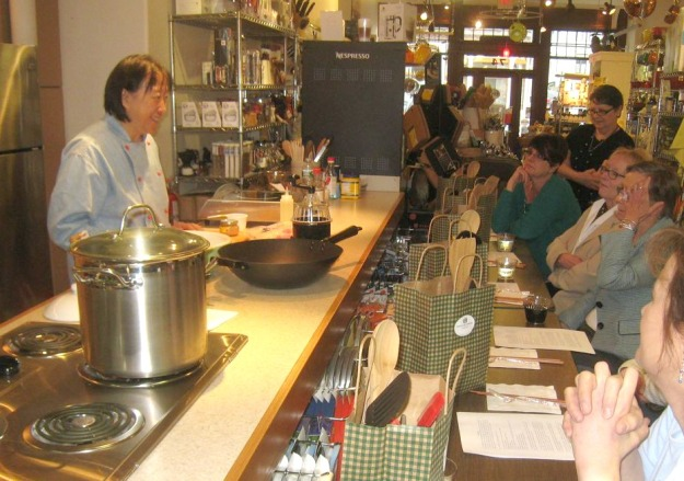 Helen Chen Teaching Stir-Fry Cooking Class