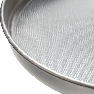 Fante's Cousin Serafina's Micro-Textured Pizza Pan, Close up View of the Pan Surface