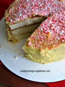 White Christmas Peppermint Cake from Rants From My Crazy Kitchen