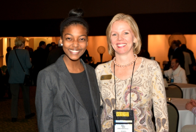 Last Year's recipient, Jordan Fessehaie with Mary Moore, founder and CEO of Cooks Warehouse, and supporter of Culinary Futures.