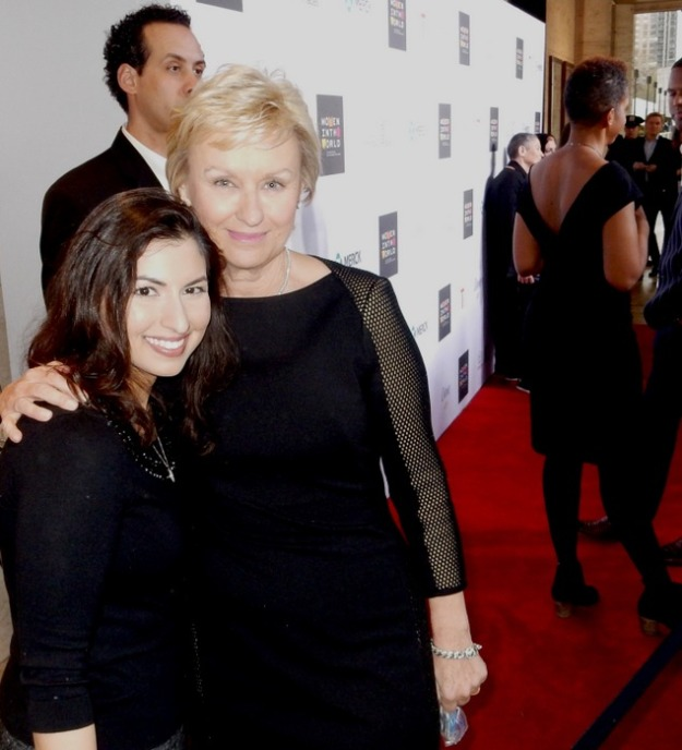 Kavita Shukla and Tina Brown at Women in the World Summit 2015