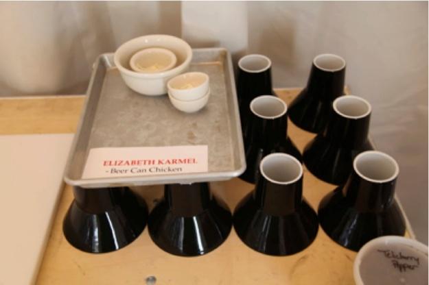 Elizabeth Karmel makes Beer Can Chicken at Martha Stewart's Home
