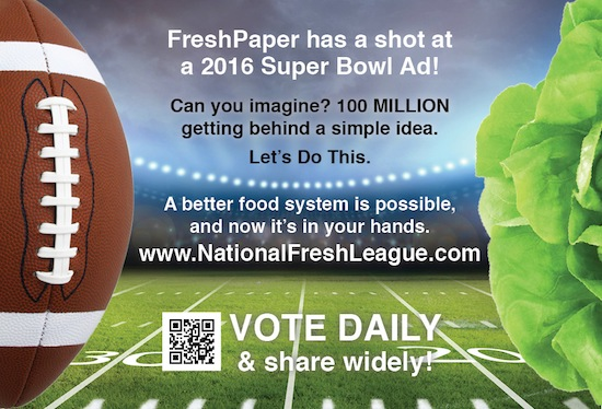 FreshPaper Super Bowl Ad - Get Out the Vote